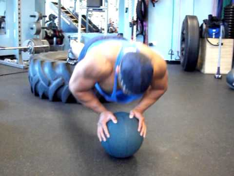 Elevated Medicine Ball Push-Up