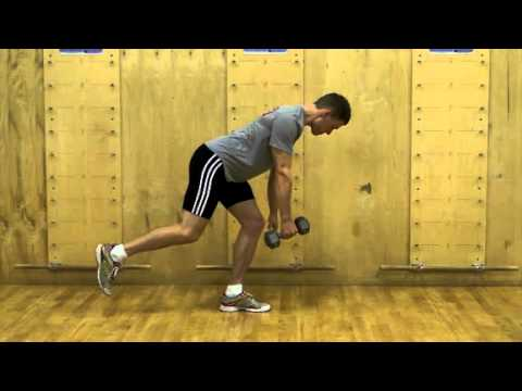 Single leg dumbbell row