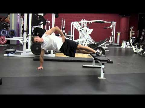 Side Plank on Bench with Movement