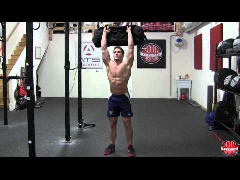 Sandbag Front Squat To Press
