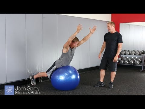 Stability Ball Superman Holds