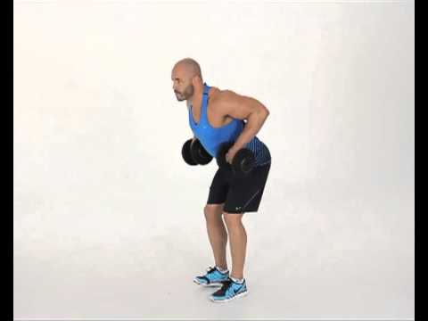 Standing Bent Over Dumbbell Row Overhand Grip