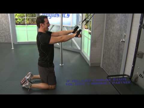 Straight Arm Lat Pulldown With Resistance Bands