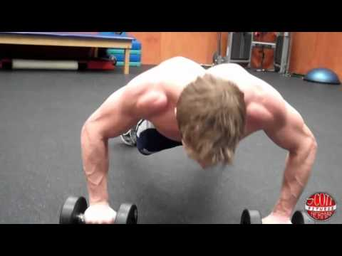 Dumbbell Push-Up into a Row