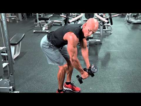 Standing Rear Delt Dumbbell Raise