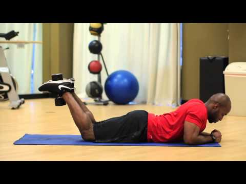 Lying Leg Curl With a Dumbbell