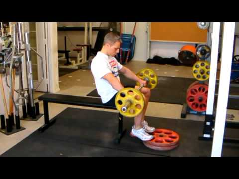 Seated Barbell Calf Raise