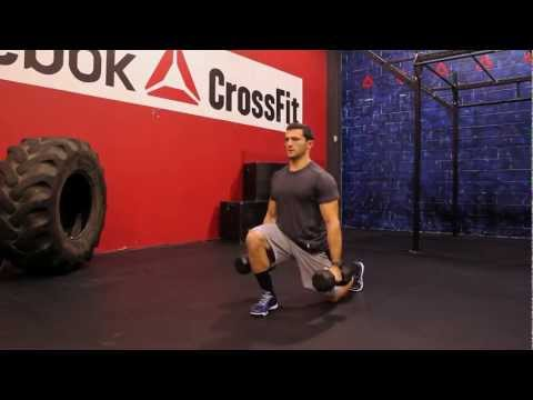 Dumbbell Jumping Lunge