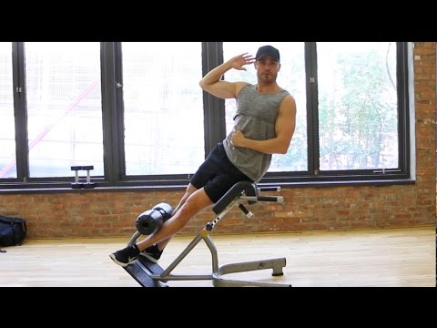 Side Bends At Hyperextension