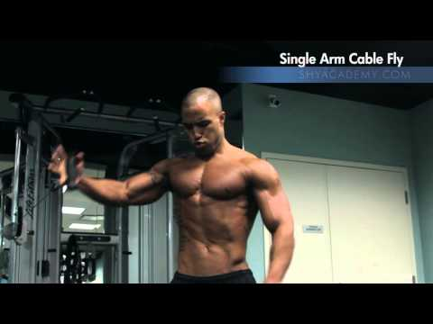 Single Arm Cable Chest Fly