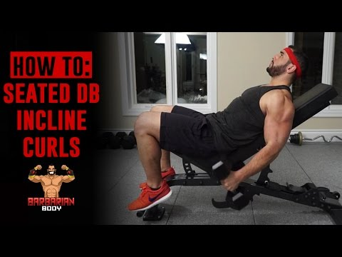 Seated Incline Dumbbell Bicep Curl